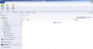 Configuration Manager 2012 Reports show No Items Found
