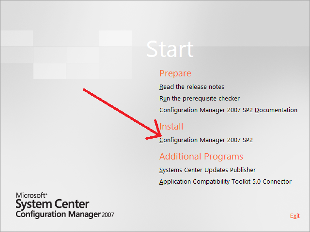 How can I install the Configuration Manager 2007 Console in Windows