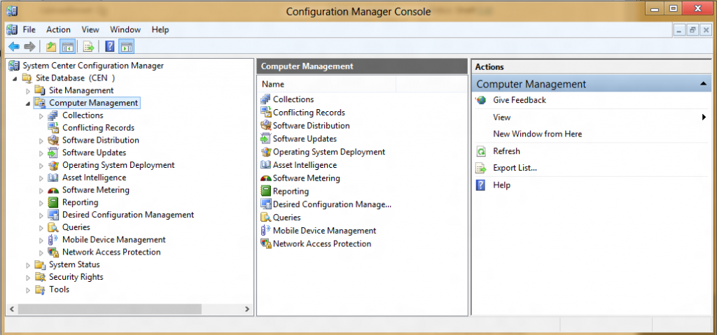 How can I install the Configuration Manager 2007 Console in