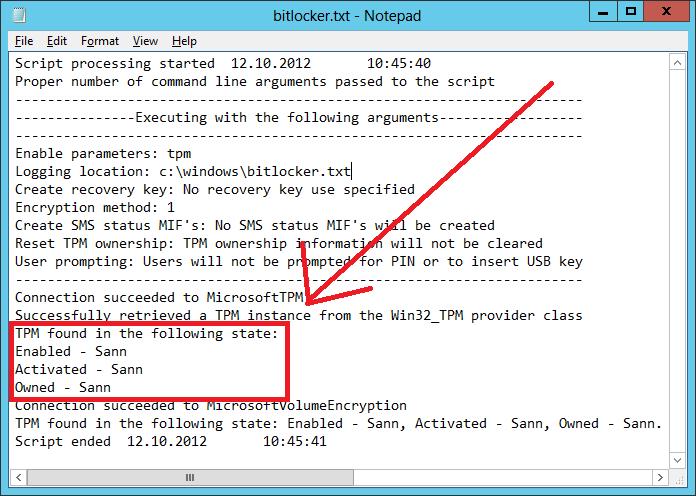 Enabling BitLocker via a script on non English Windows 7