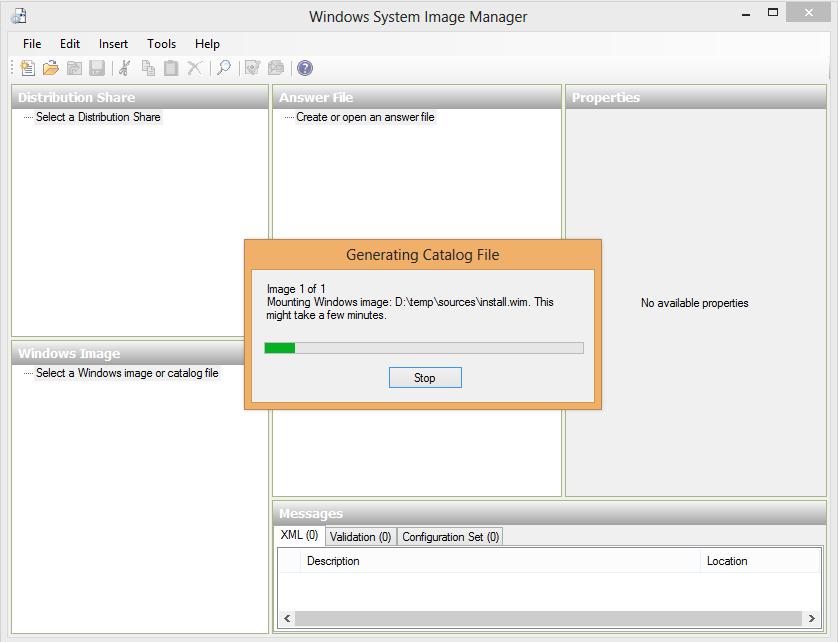 Generating Catalog file