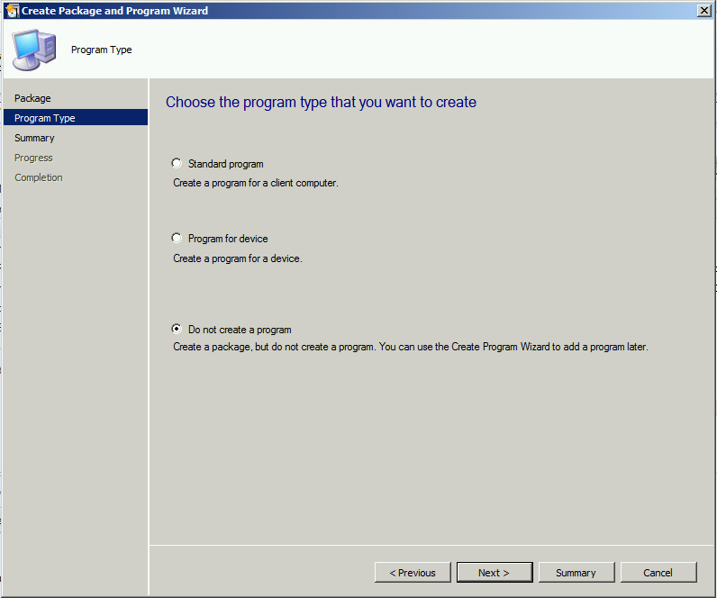 do not create a program
