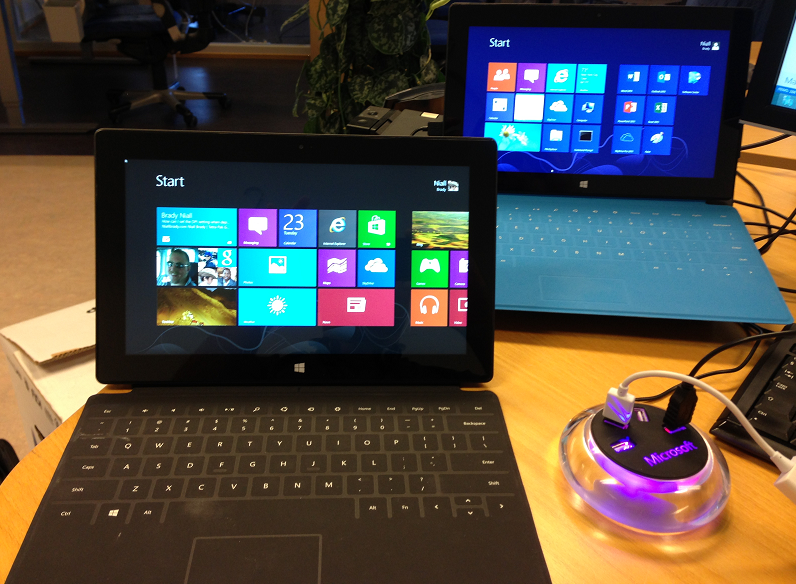 two Surface Pros