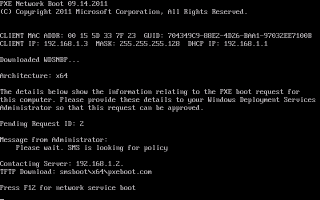 PXE working