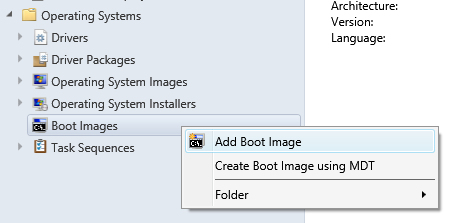 add boot image