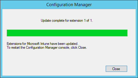 extensions are updated restart console