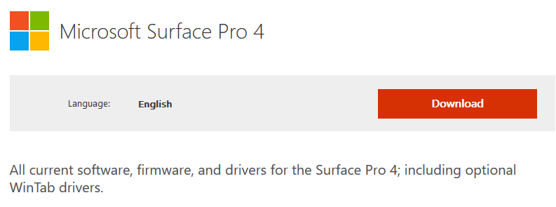 Where can I find the official drivers for the new Surface