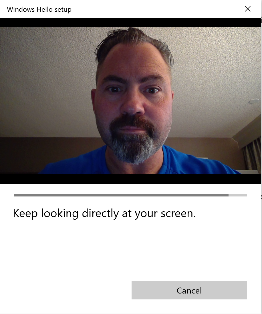 keep looking directly at your screen