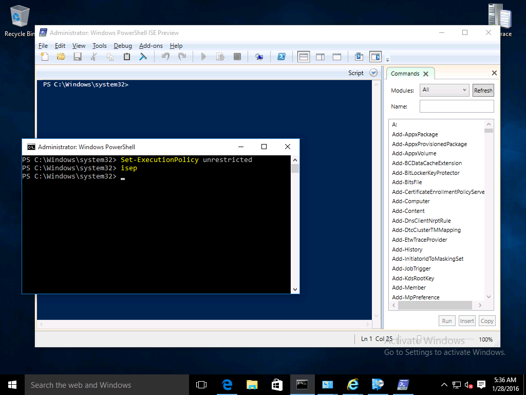Introducing the Windows PowerShell ISE Preview | just