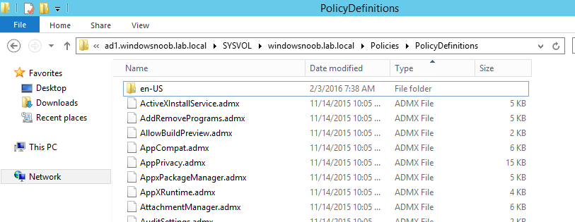 How can I add new Windows 10 admx files to the Group Policy Central ...