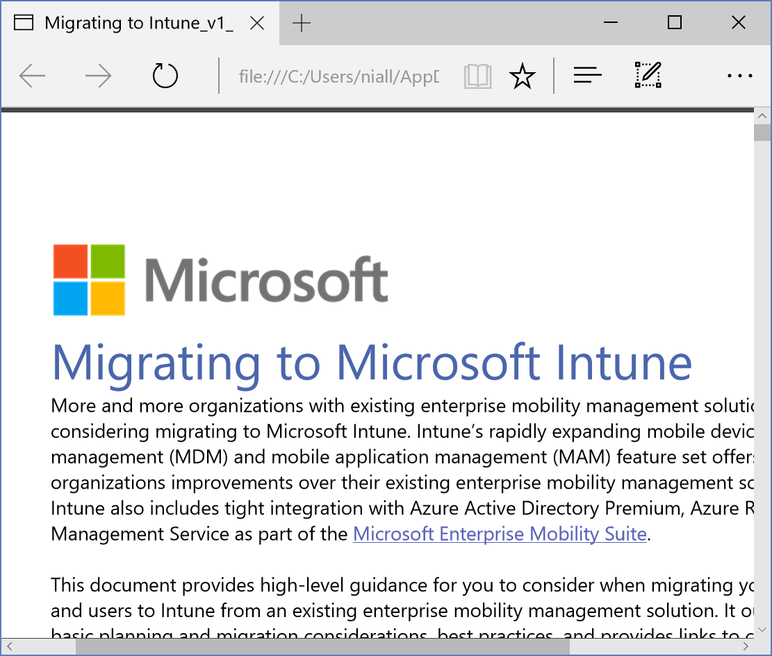 migrating to intune