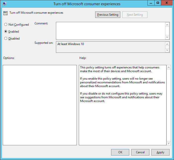 How can I add new Windows 10 admx files to the Group Policy