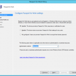 configure passport for work settings