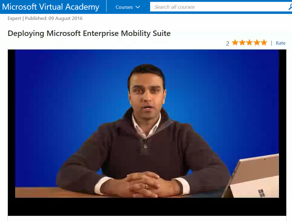 EMS technical training available on Microsoft Virtual