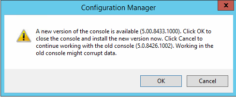 new version of the console available
