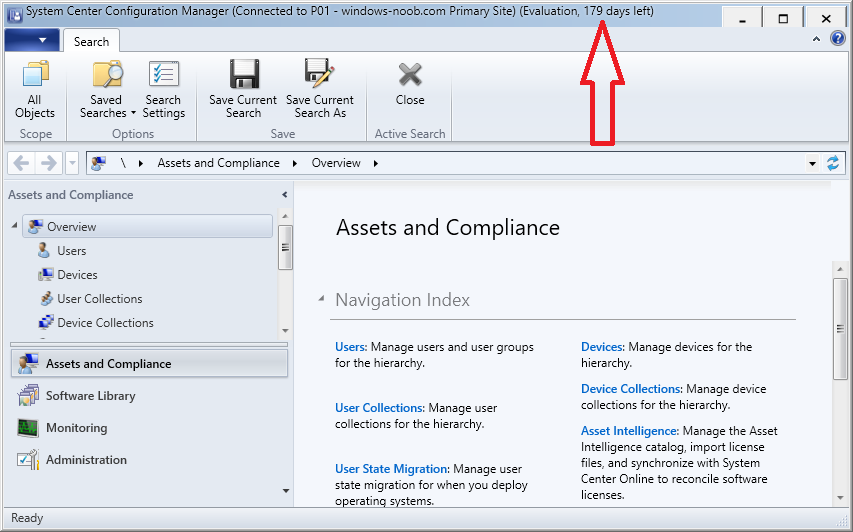 How can I change System Center Configuration Manager from an Eval