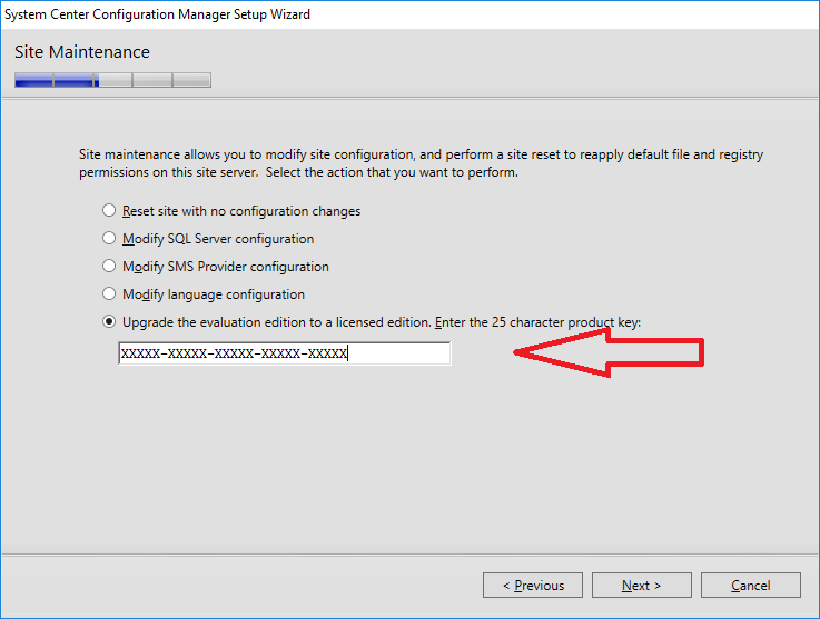 How can I change System Center Configuration Manager from an