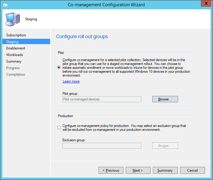 How can I enable co-management in System Center