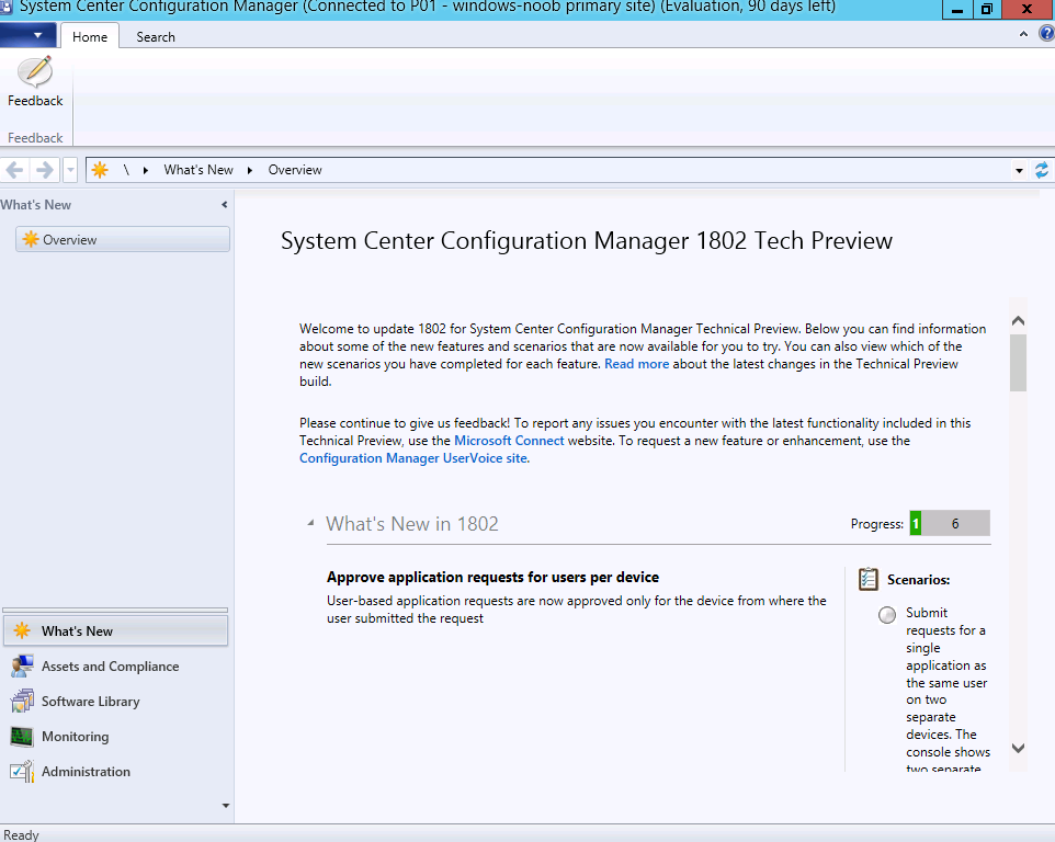 Update 1802 for Configuration Manager Technical Preview