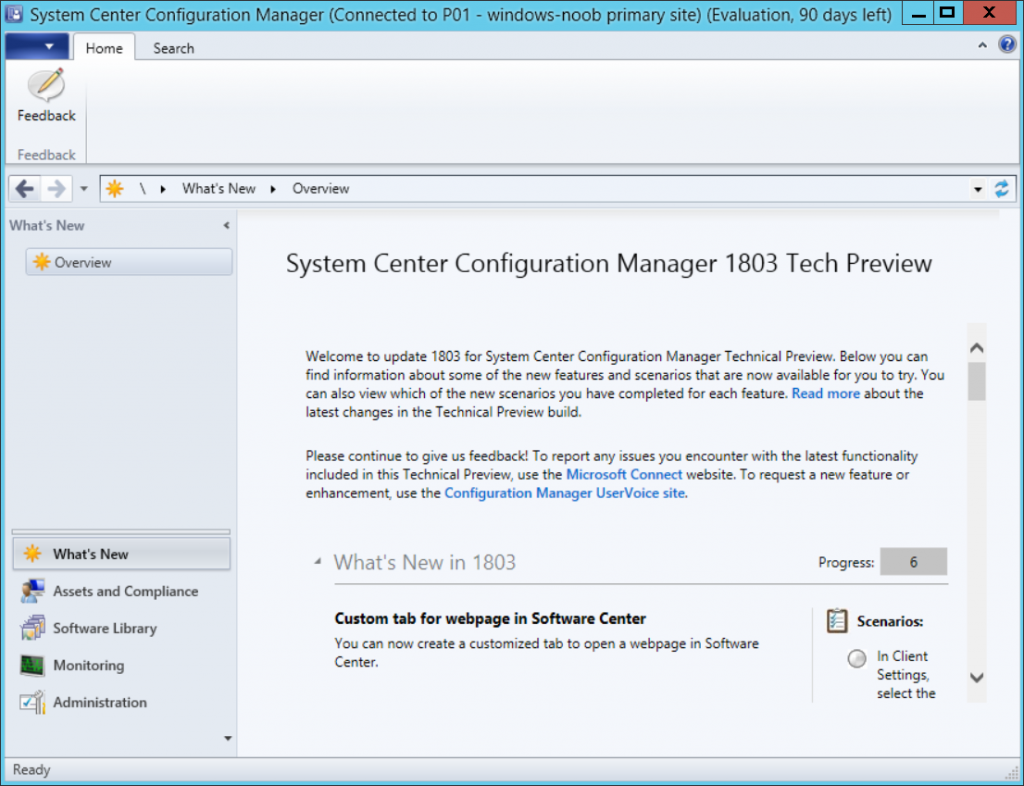 A summary of System Center Configuration Manager releases in
