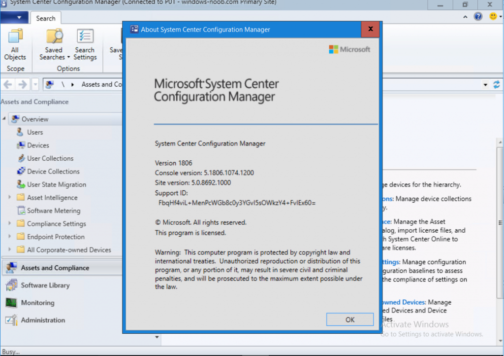 System Center Configuration Manager (Current Branch) 1806 is out