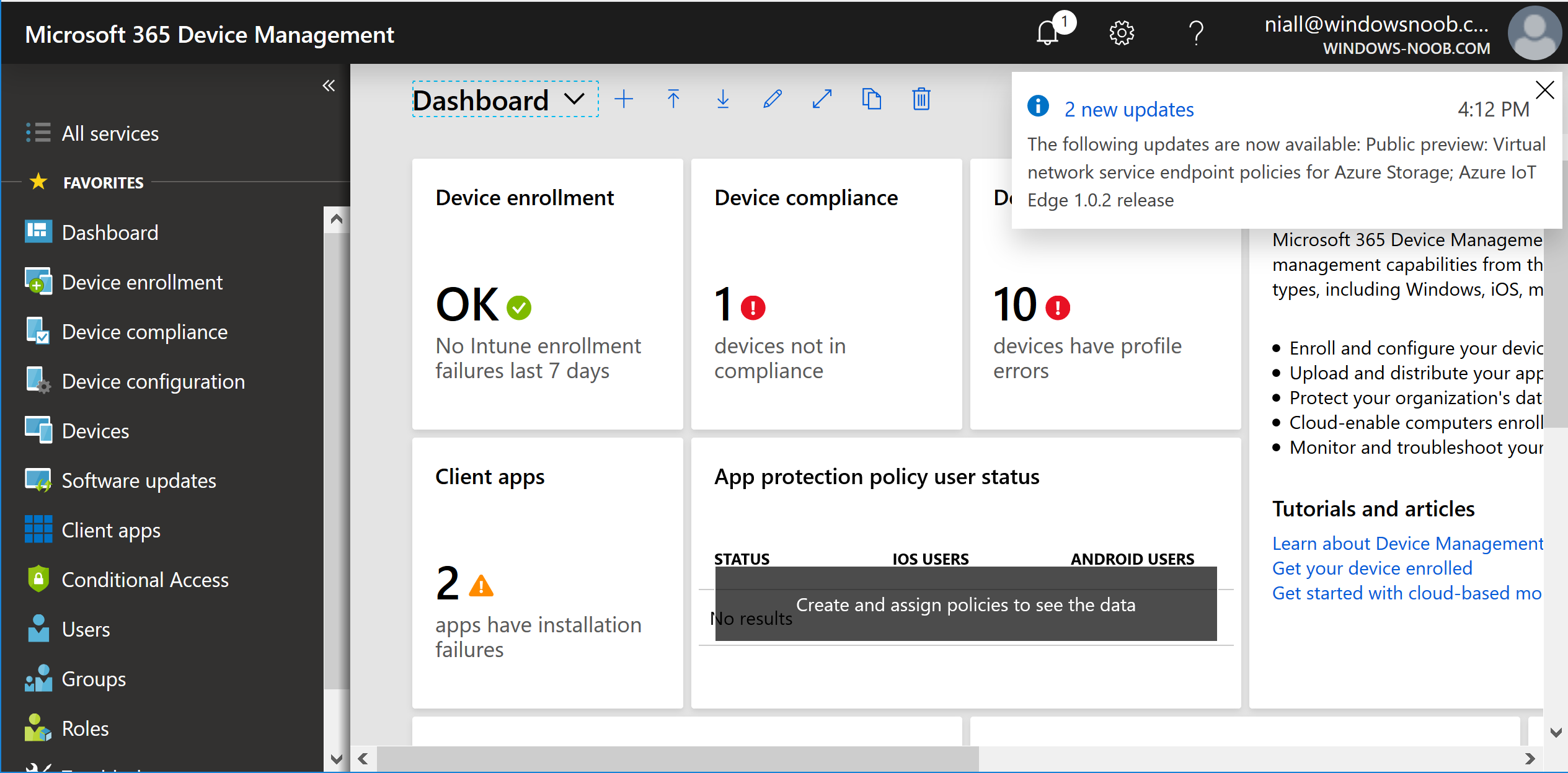 Managing devices with Microsoft Intune: What's new and what's next