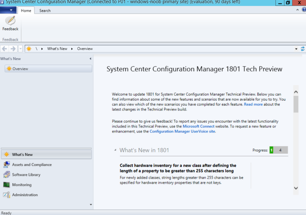 A summary of System Center Configuration Manager releases in 2018