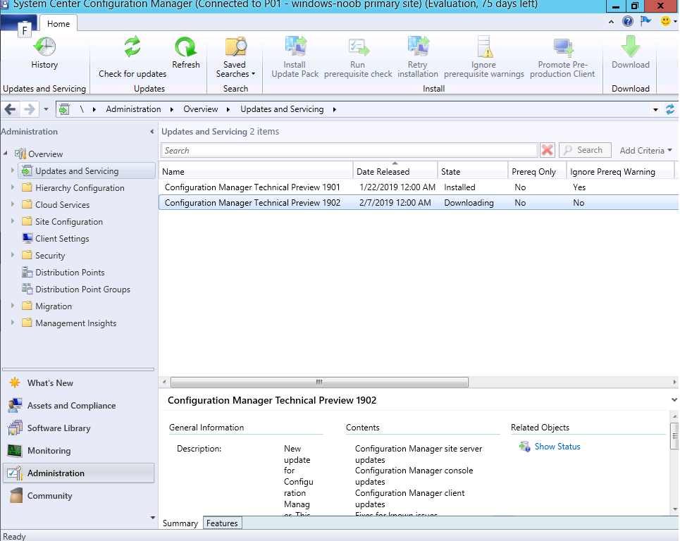 System Center Configuration Manager 1902 Technical Preview