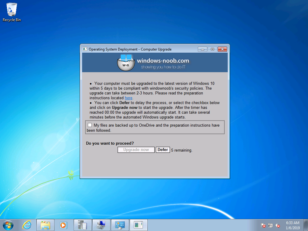 Windows 7 users getting a popup to remind them of the end of