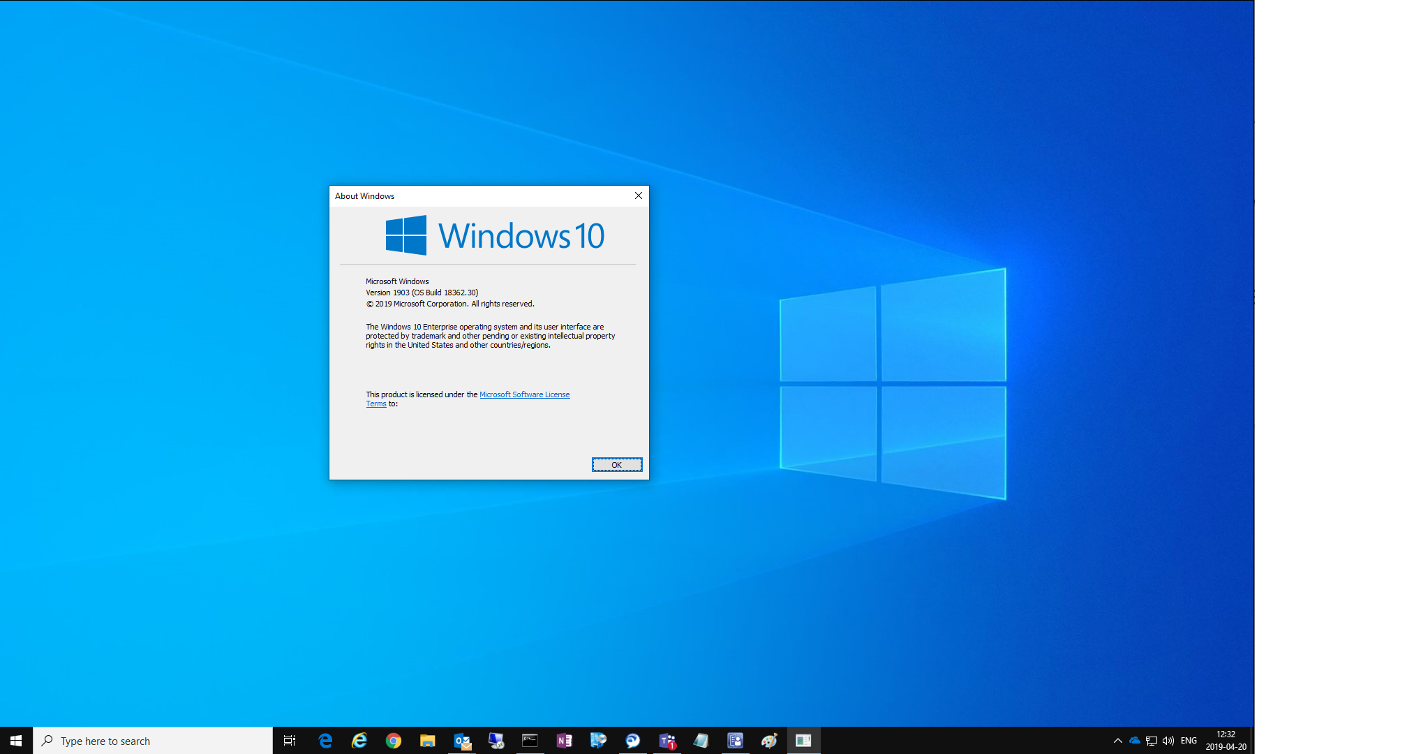 Windows 10 version 1903 comes with a new desktop background ! | just