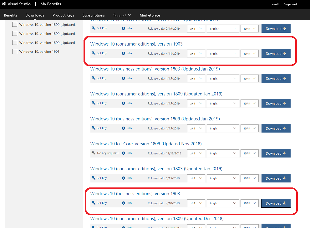 Windows 10 version 1903 is available on MSDN | just another