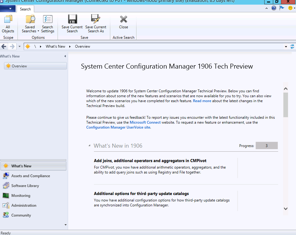 SCCM Technical Preview version 1906 is available | just