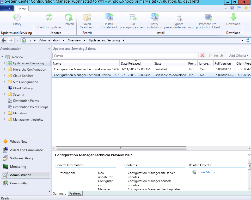 System Center Configuration Manager Technical Preview